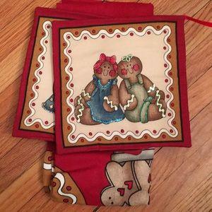 NWT handmade Christmas apron and potholders